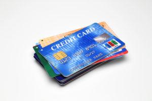 クレジットカードの束